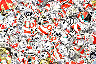 Soda Can Photograph - Flattened Coke Cans by Paul W Faust - Impressions of Light