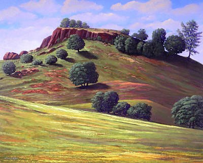 Canyon Painting - Flowering Meadow by Frank Wilson