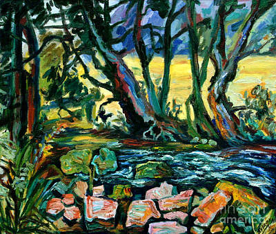 Landskape Painting - Forest Brook by Katia Weyher