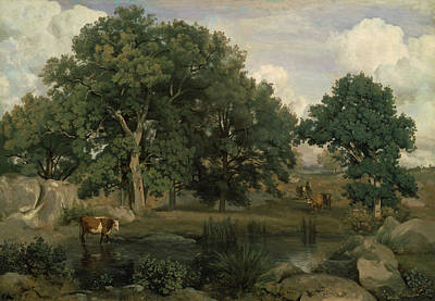 Jean-baptiste Art Painting - Forest Of Fontainebleau by Jean-Baptiste-Camille Corot