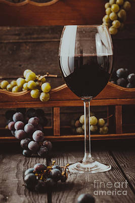 Vino Photograph - Fresh Grapes by Mythja  Photography