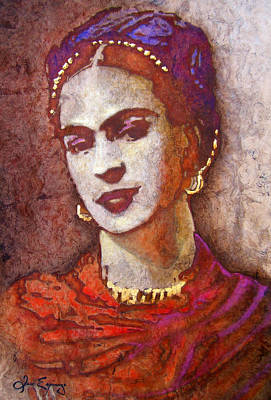 Kahlo Mixed Media - Frida  by Jose Espinoza
