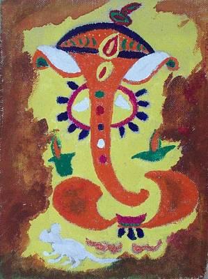 Vinayaka Painting - Ganeshji by Parveen Shrivastava