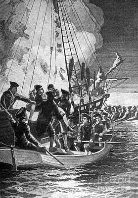 Gaspee Affair, 1772 Print by Science Source