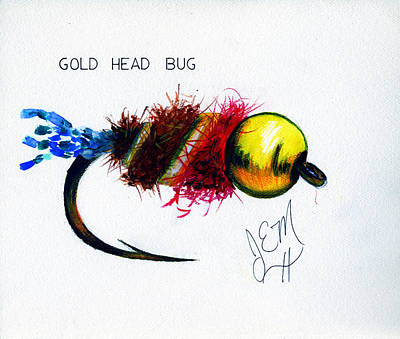 Goldhead Bug Original by James Eugene  Moore