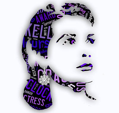 Grace Kelly Mixed Media - Grace Kelly Movies In Words by Marvin Blaine