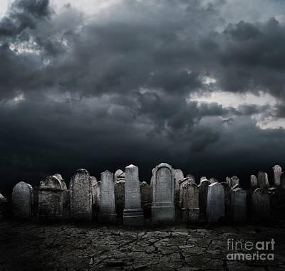Graveyard Print by Jelena Jovanovic