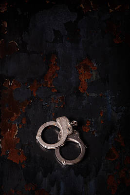 Police Photograph - Handcuffs by Erin Cadigan