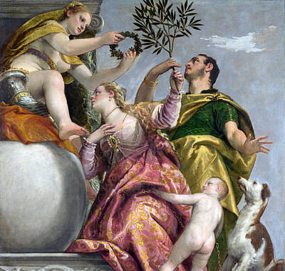 Puppy Painting - Happy Union by Paolo Veronese