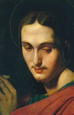 Catholic Painting - Head Of Saint John The Evangelist by Jean-Auguste-Dominique Ingres