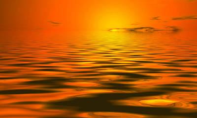 Artwork Mixed Media - Heavens Waves - Sri Yantra by Sir Josef Social Critic - ART