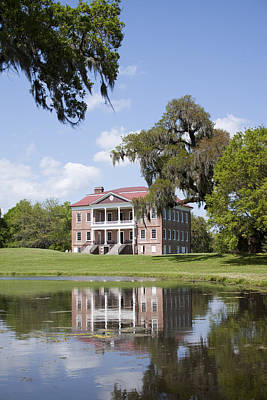 Historic Drayton Hall In Charleston South Carolina Print by Dustin K Ryan