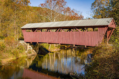 Hoke's Mill Covered Bridge Print by Jack R Perry