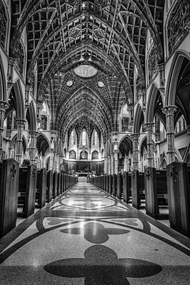 Holy Name Cathedral Print by Mike Burgquist