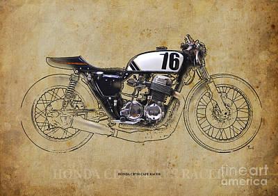 Honda Cb750 Cafe Racer Print by Pablo Franchi