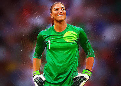 Landon Donovan Digital Art - Hope Solo by Semih Yurdabak
