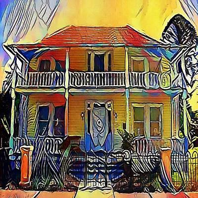 house - My WWW vikinek-art.com Print by Viktor Lebeda