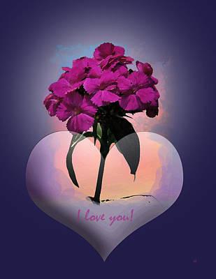 I Love You Print by Gerlinde Keating - Galleria GK Keating Associates Inc