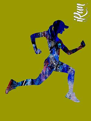 iRun Fitness Collection Print by Marvin Blaine