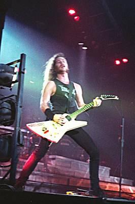Metallica Photograph - James Hetfield Metallica by Sheryl Chapman Photography
