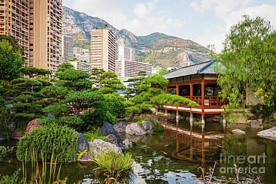 Japanese Garden In Monte Carlo. Print by Elena Elisseeva