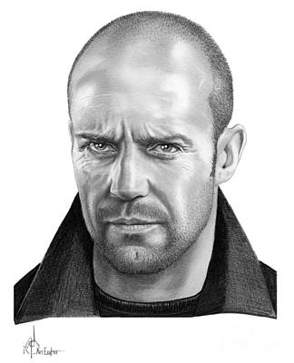 Famous People Drawing - Jason Statham by Murphy Elliott
