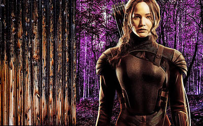Jennifer Lawrence Collection Print by Marvin Blaine