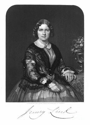 Mezzotint Photograph - Jenny Lind (1820-1887) by Granger