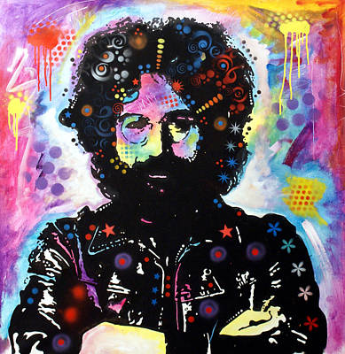 Pop Painting - Jerry Garcia by Dean Russo