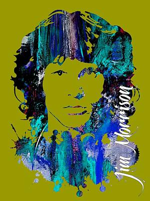 Rock And Roll Mixed Media - Jim Morrison Collecton by Marvin Blaine