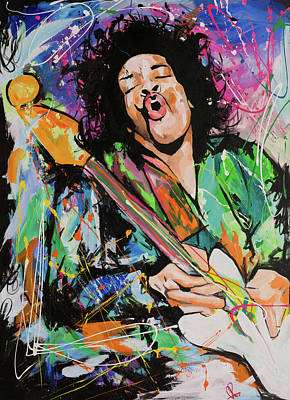 Jimi Hendrix Print by Richard Day