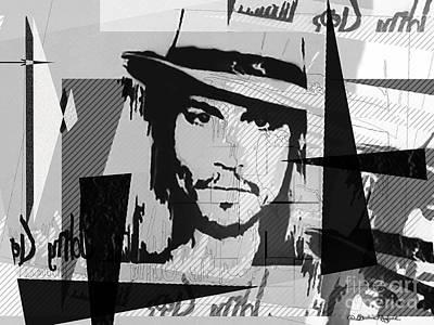 Johnny Depp Mixed Media - Johnny Depp by Christine Mayfield