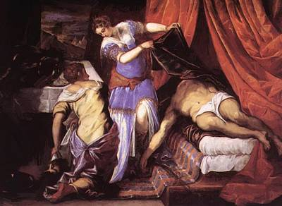 Judith Painting - Judith And Holofernes by Tintoretto
