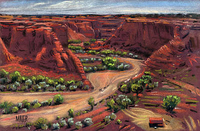 Junction Canyon De Chelly Print by Donald Maier