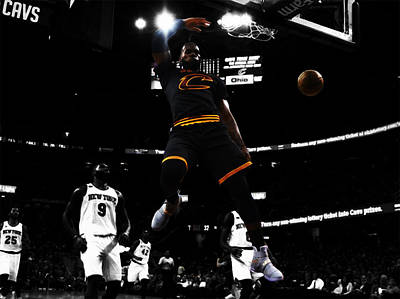 Deandre Mixed Media - King James by Brian Reaves