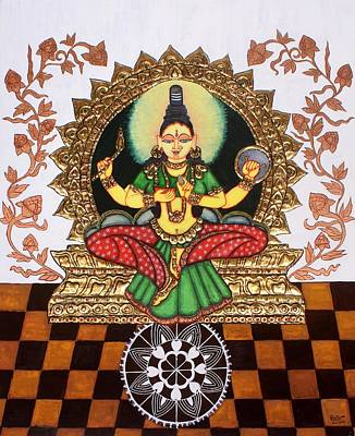 Lakshmi Painting - Kolhapuri Lakshmi by Pratyasha Nithin