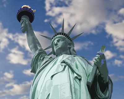 Liberty Island Digital Art - Lady Liberty by Kelley King