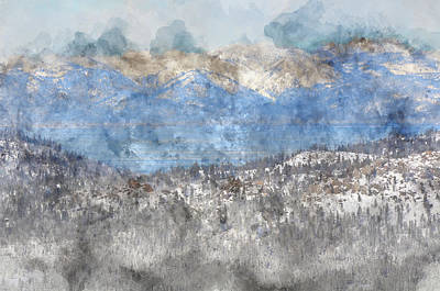Lake Tahoe California In Winter Print by Brandon Bourdages