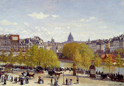 Streetscape Painting - Le Quai Du Louvre by Claude Monet