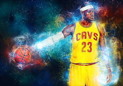 Lebron James Digital Art - Lebron James by Taylan Soyturk