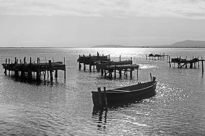 Wooden Boat Photograph - Lesina - Apulia by Joana Kruse