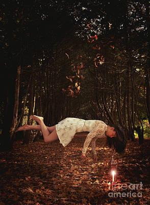 Floating Girl Photograph - Levitation With Lamp by Amanda Elwell