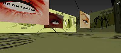 Life Labyrinth 3d Virtual Interactive Media-art 2003  Print by Jani Heinonen