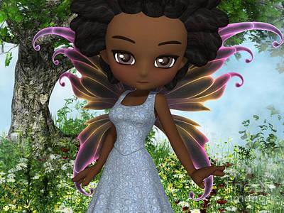 Goblin Digital Art - Lil Fairy Princess by Alexander Butler