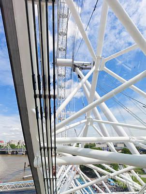Gear Photograph - London Eye Construction, Mechanism As Seen From The Capsule. London, Uk by Michal Bednarek