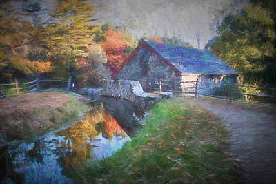 Longfellow's Wayside Inn Grist Mill Print by Jeff Folger