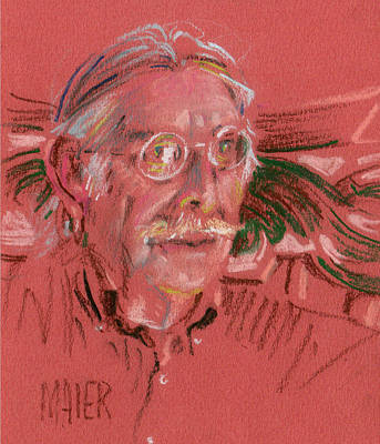 Pastel Portraits Drawing - Louie by Donald Maier