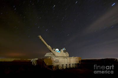 M1 Abrams Tank At Camp Warhorse Print by Terry Moore