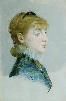 Women Painting - Mademoiselle Lucie Delabigne by Edouard Manet