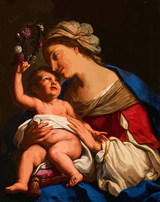 Madonna And Child Print by Christian Art